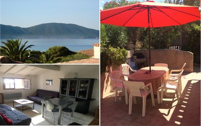 Photo for Air-conditioned sea view apartment - 100m from the beach - Beautiful Terrace