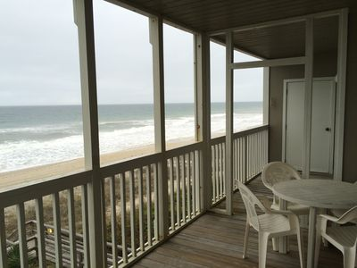 Photo for Great ocean views on the beach in Pine Knoll Shores
