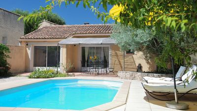 Photo for Detached house with private pool between vaison la romaine and nyons.