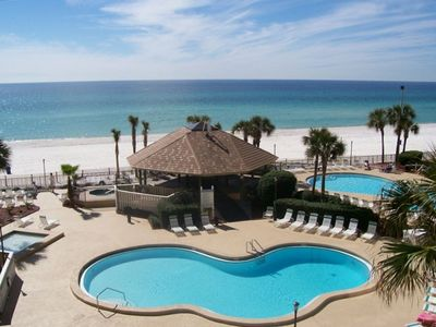 Photo for IRRESISTIBLE!! PCB GULF FRONT! 2BR, 2B , Free Bch set up, early 1:30 CK-IN, 5*s
