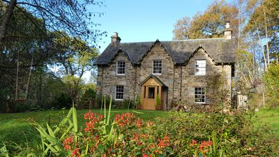 Photo for Beautiful Self Catering Family Holiday Cottage in ancient woodland nr Aberfeld