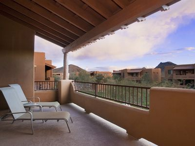 Photo for Scottsdale Mountain Townhome - Tastefully furnished single level  town home close to great golfing