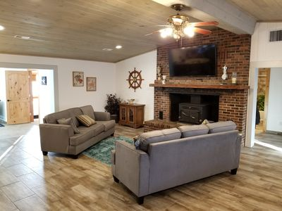 From the entry way, open floor plan