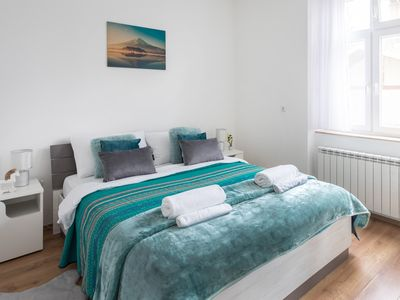 Photo for Bright 2BDR Apt near Main Bus Station-FREE PARKING