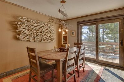dining area in open plan