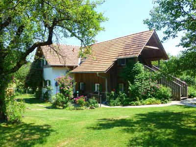 Photo for An earthly paradise - country house in the romantic garden, family friendly,