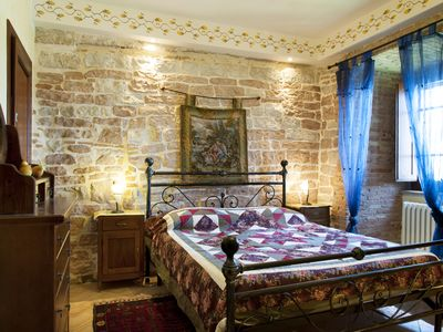 Photo for Hilltop Medieval Escape with Panoramic View (Tiberius Apartment)