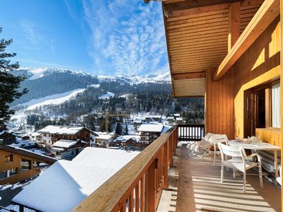 Photo for Apartment ski in/out in the center of Méribel