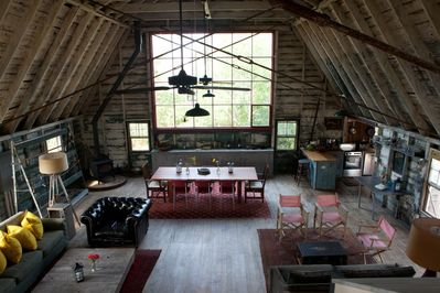 View from loft showing north windows