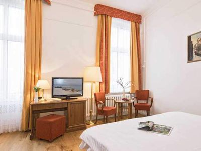 Photo for Double Room with Partial Sea View and Balcony - Promenadenhotel Kaiser Wilhelm