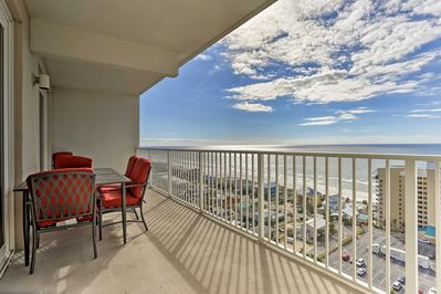 You'll never grow tired of the view from your private balcony!