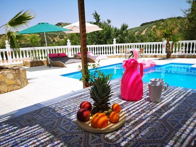 Photo for Holiday house Finca Private pool Spain Andalucia Sleeps max 6 person Wlan