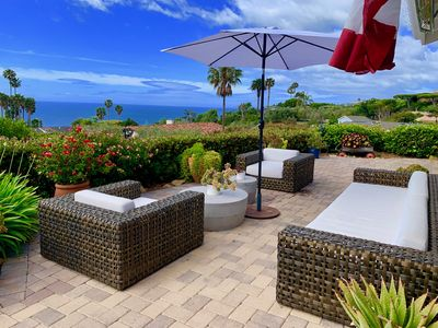 Photo for Tropical ocean view Malibu sanctuary w/ heated salt pool, spa, fire pit, beaches