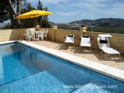 Photo for A detached villa with stunning panoramic views and private pool