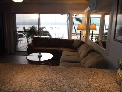 View from the kitchen of Living room and Ocean