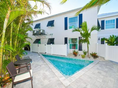 Photo for BEST LOCATION. Amazing 3 Bedroom Pool Home. Steps to Siesta Key Village and Beach. Walk to Grocery Store, Shops, Restaurants and Nightlife. Private Pool/Hot Tub. Property Manager Included.