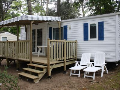 Photo for mobile home IRM super titania 32m2 4 star campsite, sleeps 4/6, 2 bedrooms