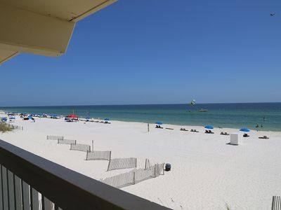 Photo for Harbor House B2 - Direct Gulf Front, on the beach, Fresh Updates, Gulf Front/Free Wifi, Prime Locati