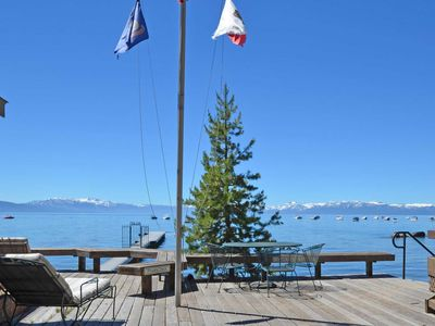 Photo for Tahoe Lakefront 1 Bedroom Cabin on a Sandy Beach, Pier and Dog Friendly