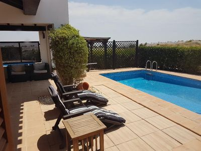 Photo for El Valle Front Line Golf Villa South Facing  Wi-Fi ,  TV , Private Pool. Air con