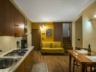 "Photo for Apartment ""SOLE"" up to 4 people just 100 meters from Lake Como"