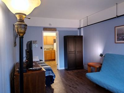 Rent a fully separate entrance apartment suite for about the price of a room.