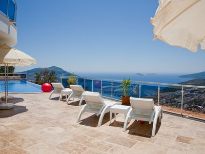 Photo for Stunning Luxury private villa  with sea views and 19 m infinity pool