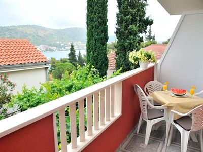 Photo for Two bedroom apartment with balcony and sea view Rogoznica