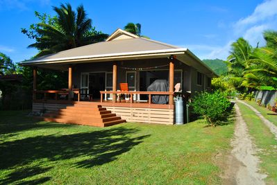 View of our 2 bedroom villa which direct access to the beach.