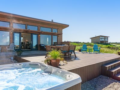 Photo for Oceanfront beach home with hot tub, free WiFi and great ocean views!