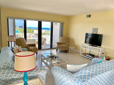 Ocean View from the Living and Dining areas