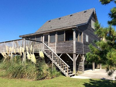 "Photo for Come on ""Down South""!  3br/2ba,  steps from the ocean, gorgeous sunset views"