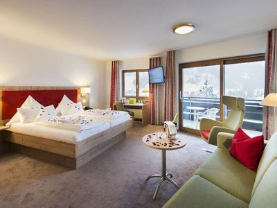 Photo for Cat 1   DZ Romantic 38 qm   from May new bath with DU - Auszeithotel Erlebach 4 stars