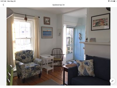 Photo for Perfect location, quiet, sunny one bedroom in center of Provincetown