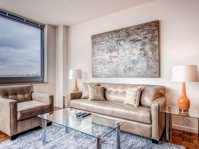 Photo for Beautiful 2BR | NYC Skyline Views | Jersey City Waterfront by GLS
