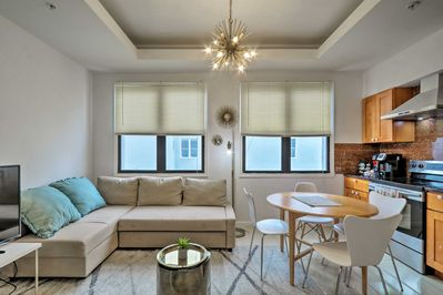 Find bright modern style at this airy Philadelphia vacation rental condo!