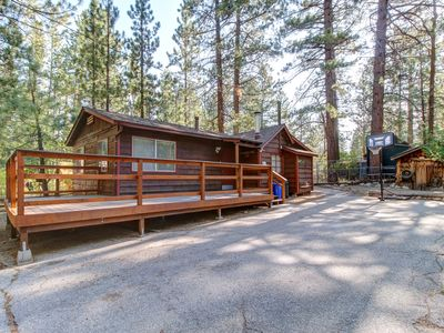 Photo for Rustic dog-friendly cabin w/ deck and yard near lake and ski slopes!