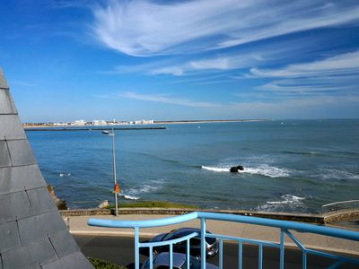 Photo for Apartment 2 pieces - Great view of beaches and Croix de Vie port - Balcony