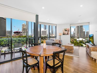Photo for Coastal Apartment with Balcony, Parking and Pool