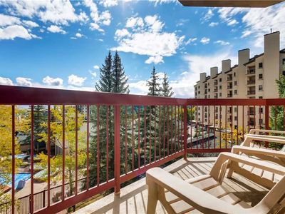 Photo for Slopeside Condo w/Great Views for Summer, Balcony & Fireplace!