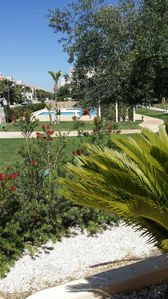 View from front terrace towards the pool area