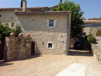 Photo for Beautiful farmhouse, 5 bedrooms, garden, large pool Domessargues, near Uzes.