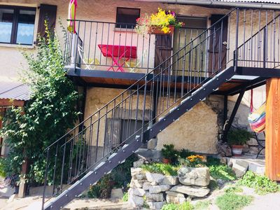 Photo for Cozy cottage in the mountains. Quiet, great view, garden, Wifi. Garage. Massage ....