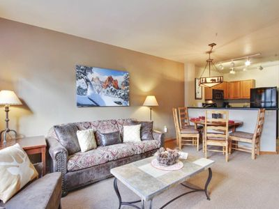 Photo for Mtn Modern Condo @ Base Area | Ski In/Ski Out | Watch The Skiers Go By | Sleeps 4