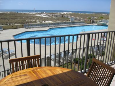 Photo for Condo Overlooking Pool and Beach