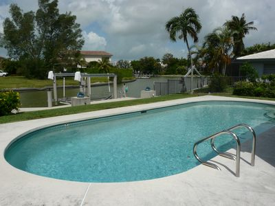 Photo for Old Marco Waterfront Pool Home: Walk to Snook Inn, Marina