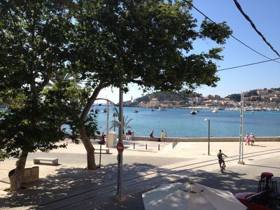 Photo for First line apartment with large balcony & stunning views over Port de Sóller bay