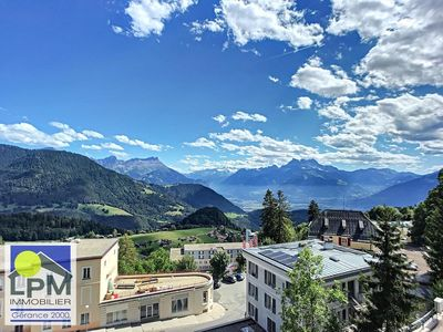 Photo for Chessex 7 Apartment chalet style, enjoying a superb view and a quiet location near the train station