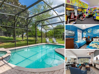 Photo for MVH_115M | Sun `n Games Villa with custom kids bedrooms and a private pool