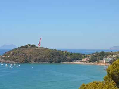 Photo for Apartment in Gaeta, close to the beaches, sea views and tranquillity